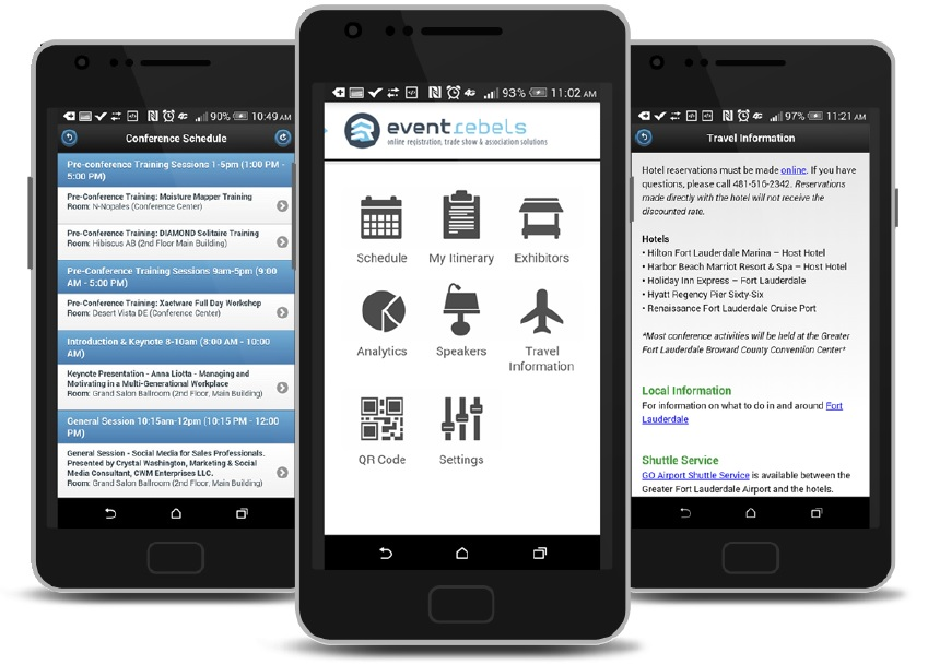 ERMobile Attendee App for iPhone and Android