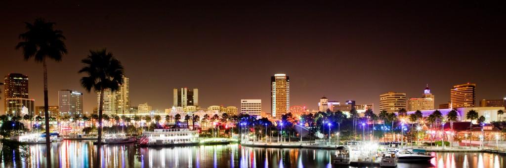 Downtown Long Beach, California - Rainbow Harbor