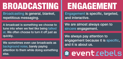 Broadcasting vs Engagement