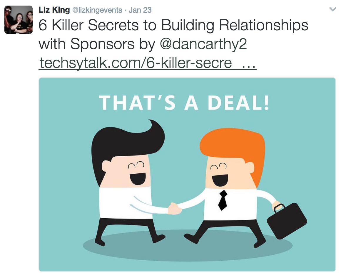 Liz King twitter account