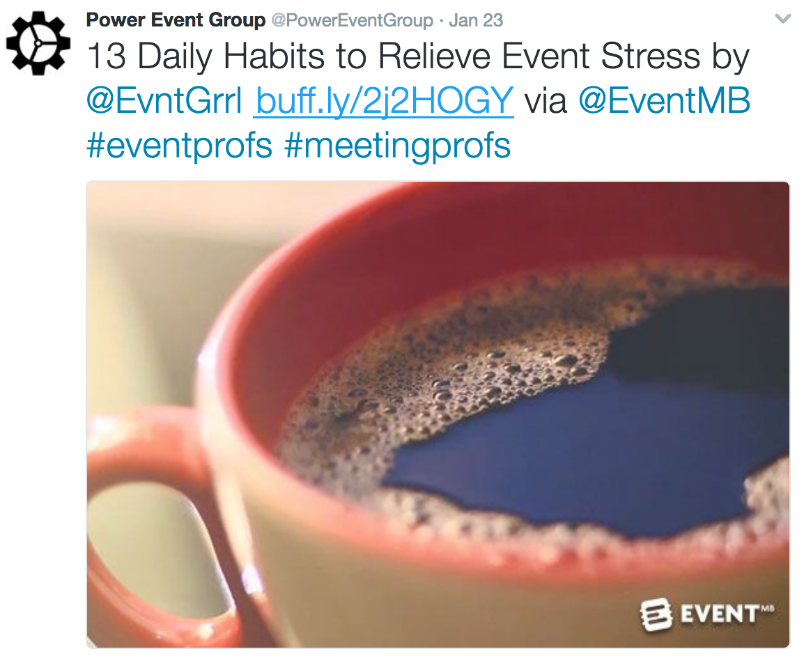 Power Event Group twitter account